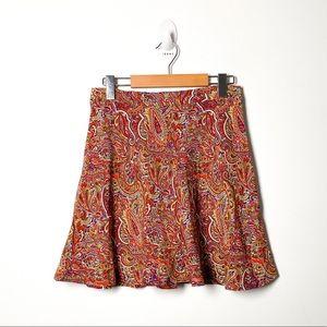 Zara Circle Skirt Floral Bohemian Fall Mini Skater